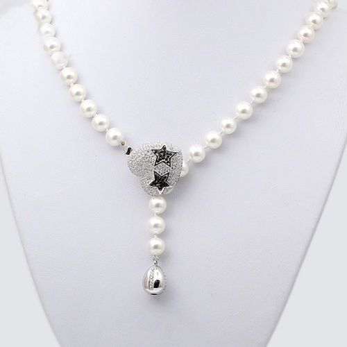 Fermoir de bijoux fins multifonctions en argent Sterling Zircon en forme d'étoile en forme de coeur pour Bracelet de collier de perles faisant la SC-CZ063 - 4
