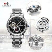 LAOGESHI Neue Automatische Mechanische Uhr Freizeit Sterne Männer Mechanische Uhr Tourbillon Stahl Uhr