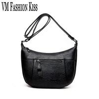 VM FASHION KISS Hot Luxury Ladies Imitation Sheepskin Dumplings Messenger Bag Large Capacity Shoulder Diagonal Bolsas