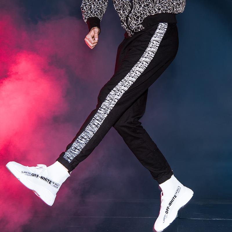 Beverry Casual Tendance Survêtement Hommes Nouvelle De Jogger Pantalon Fitness Nuit Pantalons Courir Élastiques Réfléchissant Garçon Cool 4Oq4r