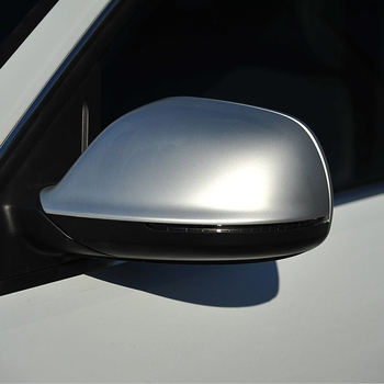 Matte Chrome ABS Rearview Mirror Shell Cover Side View Protection Cap Wing Mirror Cover For Audi Q5 2009-2015 Q7 2009-2017