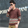 2015 New Brand Men S Sweaters Polka Dot Pattern Man O Neck Sweater Fashion Knitted Winter