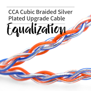 Image 3 - CCA C2 8 Core Orange Blue Braded Silver CableUpgraded Plated Cable Earphone Upgrade for KB10 KB06 A10 C10 CA4 KZ AS16 AS10 AS12