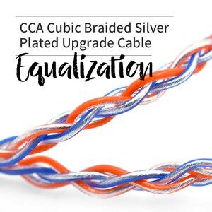 Image 3 - CCA C2 8 rdzeń pomarańczowy niebieski Braded srebrny CableUpgraded kabel warstwowy słuchawkowy uaktualnienie dla KB10 KB06 A10 C10 CA4 KZ AS16 AS10 AS12