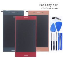 """AAA 5.5 """"LCD لسوني اريكسون XZ قسط G8142 E5563 شاشات كريستال بلورية الجمعية محول الأرقام زجاج لسوني اريكسون XZP عرض شاشات كريستال بلورية"""