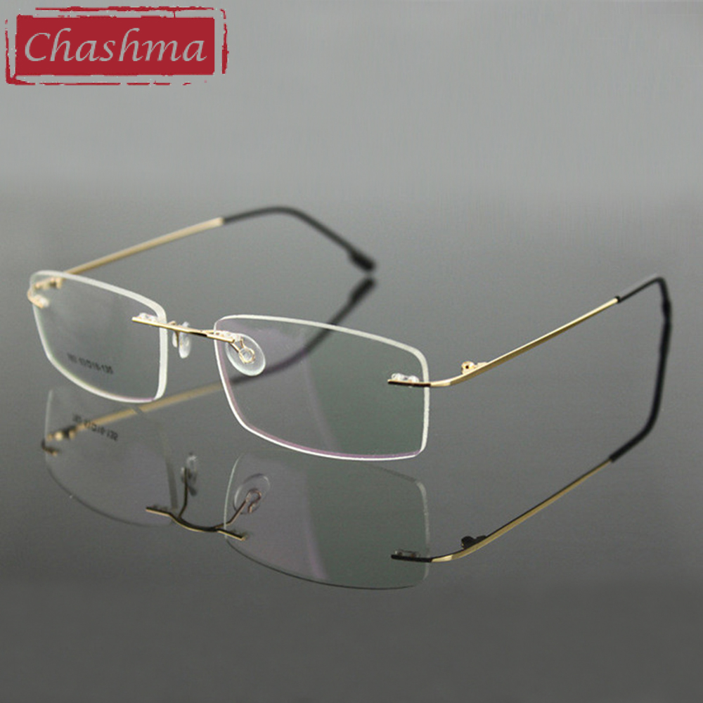 Chashma Randlose Titanlegierung Ultraleichte Myopie Brillengestell - Bekleidungszubehör - Foto 3