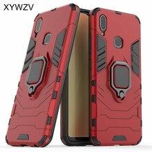 Vivo Y95 funda a prueba de golpes cubierta dura PC armadura Metal dedo anillo soporte teléfono funda para Vivo Y95 protección contraportada para Vivo U1
