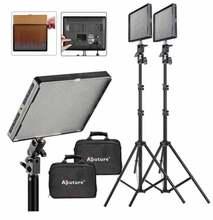 2 Unidades 2 * aputure amarán al-528w luz de vídeo led light & 200 cm soporte de luz led de iluminación