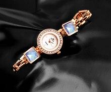 Women Crystal Bracelet RoseGold Quartz Watch