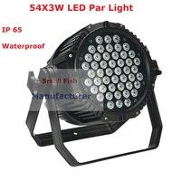 Waterproof Stage Light 54X3W RGBW 4 Colors Led Par Lights 180W High Power Par Cans 6/8 DMX Channel For Party Wedding Star Shows