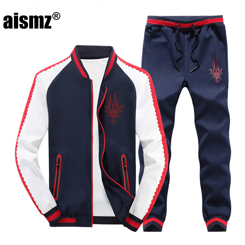 Aismz High Quality Spring Autumn Sporting Suits Men Costume Sportswear Mens Sets Jackets ...