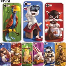 Cute Animals For Apple iPhone XR 5 5S SE 6 6S 7 8 Plus X XS MAX Parrot Dog Shell Phone case Soft Silicone TPU case Cover Coque цена и фото