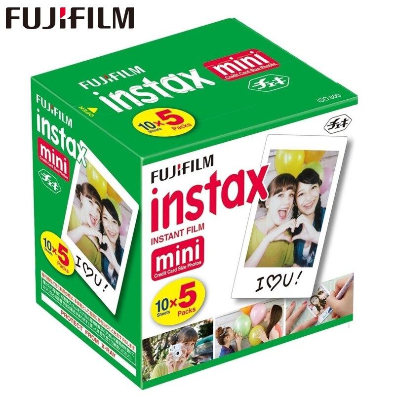 D'origine Fuji Fujifilm Instax Mini 8 Film Bord Blanc Papiers Photo Pour Mini 9 7 s 90 25 55 Répartition SP-1 Appareil Photo Instantané 50 feuilles