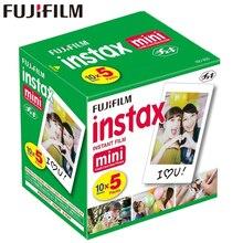 فوجي فوجي فيلم Instax Mini 8 فيلم الأبيض حافة ورق الصور لميني 8 9 11 7s 90 25 55 حصة SP 1 2 كاميرا فورية 50 ورقة