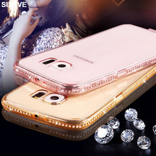 Luxe TPU Case Voor Samsung Galaxy S7 S6 rand S8 S9 plus J7Neo J7Nxt Core J3 J5 Pro A3 A5 a7 2015 2016 2017 Bling Diamond Shell(China)