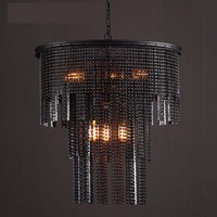Ancient Industry Wind Chandelier black crystal lamps Cafe light retro light fixtures Restaurant Rural Chain light WL3211644