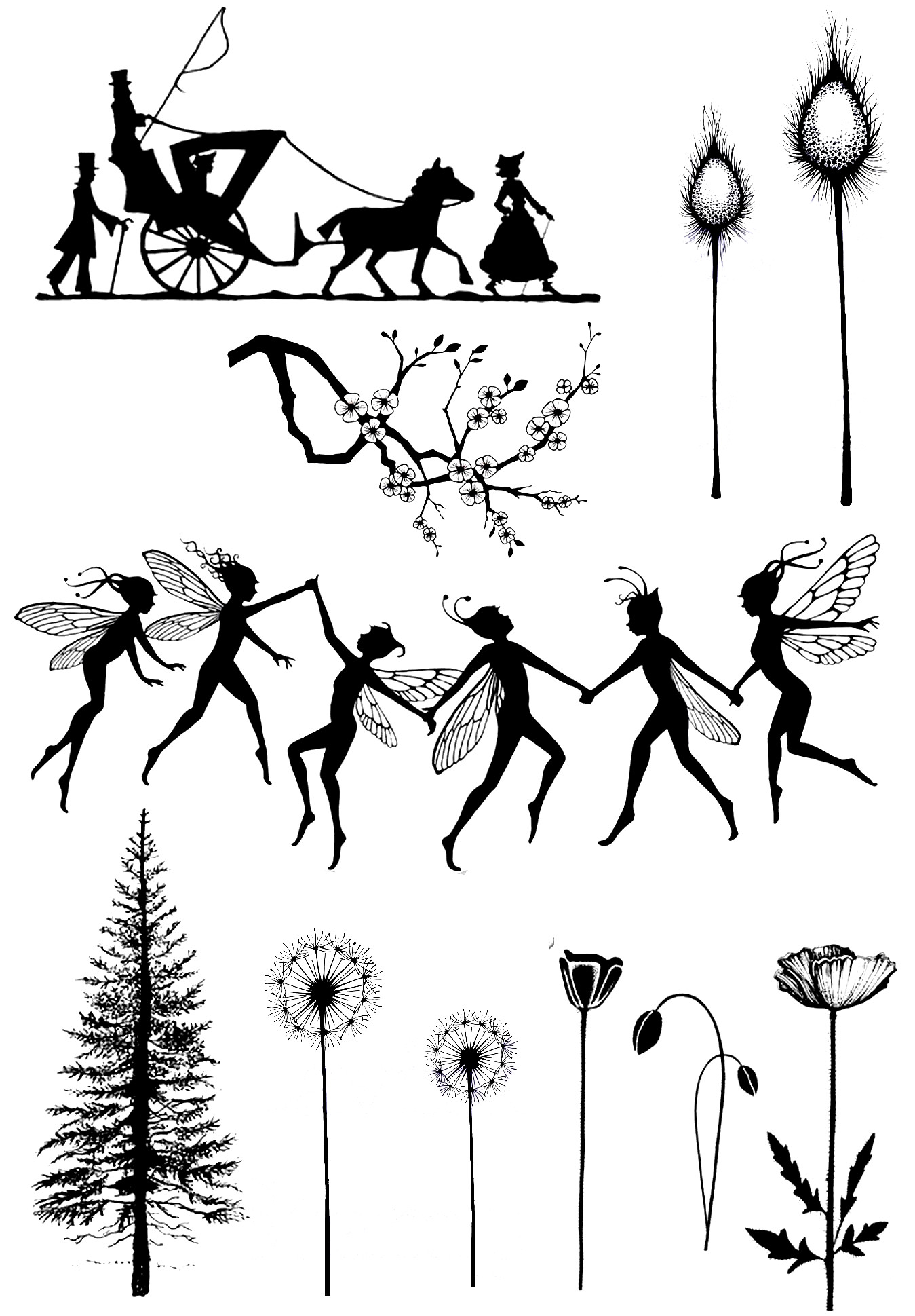 Dancing Fairies And Tree Transparent Clear Stamp For DIY Scrapbooking/Card Making/Kids Christmas Fun Decoration Supplies