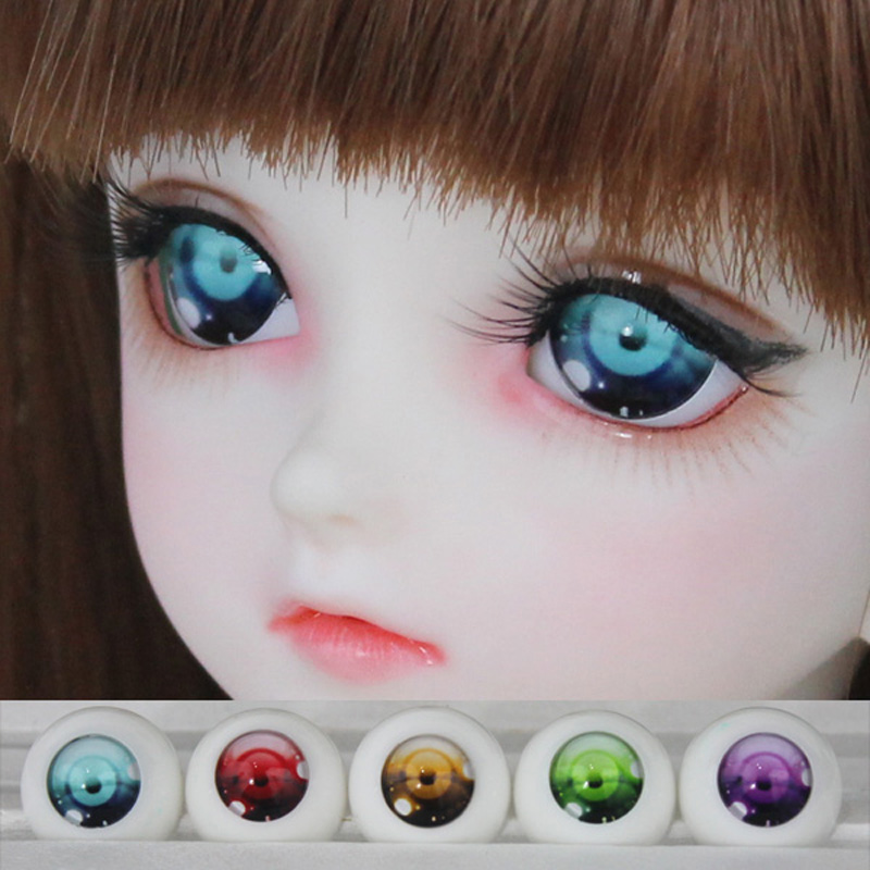 5 Colors 1 Pair Half Round Acrylic Eyes For Dolls 1/3 1/4 1/6 SD BJD Doll Eyes Size 18MM 16MM 14MM Doll Accessory Toy