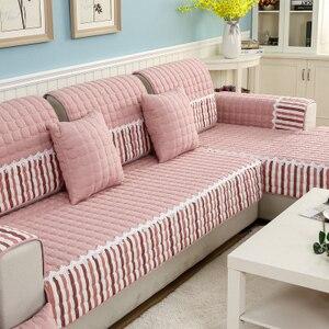 Image 1 - Four seasons sofa cushion, universal non slip sofa cover cushion, European full cover autumn and winter