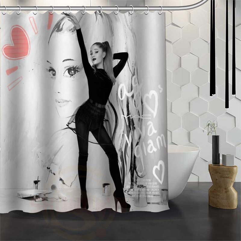 Best Nice Custom Ariana Grande Shower Curtain Bath Waterproof Fabric Bathroom 165X180cm180X200cm P In Curtains From Home Garden