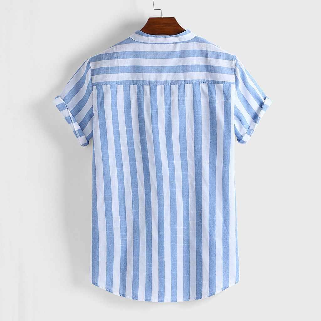 Camisa, мужские сексуальные облегающие полосатые рубашки, мужская повседневная Уличная уличная рубашка, мужская летняя рубашка с коротким рукавом, топы, M-3XL