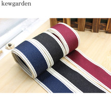 kewgarden 40mm 4cm Cotton Ribbons Handmade Tape Satin Ribbon DIY Bowknot Riband 6M / lot