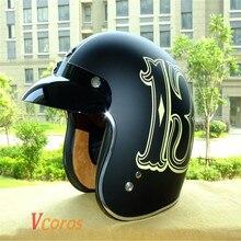 CASCO CAPACETES TORC Motorcycle helmet retro 3/4 open face vintage helmet DOT rebel star half face helmets