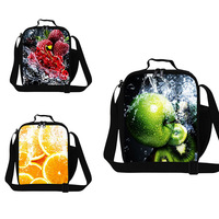 Fruit Print Lunch Bag For Girls Shoulder Lunch Bag For Women Inner Cool Lunch Bag For