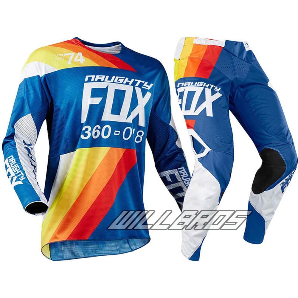 купить Naughty Fox 360 Draftr Charcoal Adults MX Gear Set Motocross Dirt Bike Off road ATV Mens Blue Jersey Pant Combo недорого