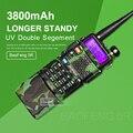 Venda quente baofeng uv-5r camuflagem 136-174/400-520 mhz dupla banda Walkie Talkie com 3800 mAh li-ion bateria em Dois sentidos rádio