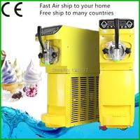 Commercial Mini Ice Cream Maker 18L/h Soft Ice Cream Machine Make Sundae Ice Cream 110~220V/500W 0.4HP Compressor