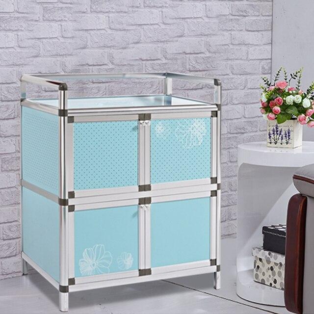 Hi tao tao aparador balc n armarios de la cocina gabinetes de almacenamiento de aluminio simple - Armario balcon ...
