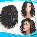 Cheap short curly wigs synthetic lace front wig for black women glueless synthetic lace front wig heat resistant hair no lace