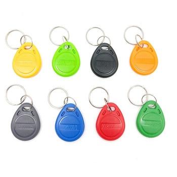 100 pcs Rfid Tag 125 Khz Cartão RFID Proximidade Keyfobs Chave Fob Controle de Acesso Cartão Inteligente 8 Cores Frete Grátis 1