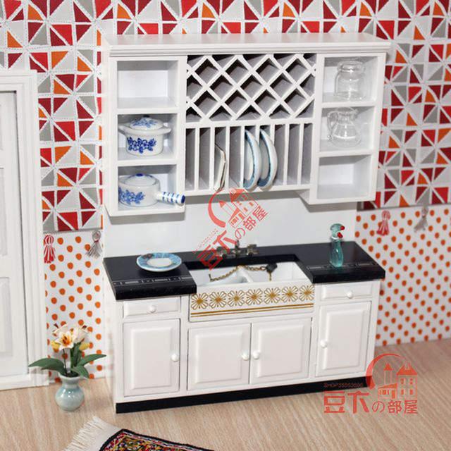 Online Shop 1 12 Scale Wooden Dollhouse Miniature Kitchen Room