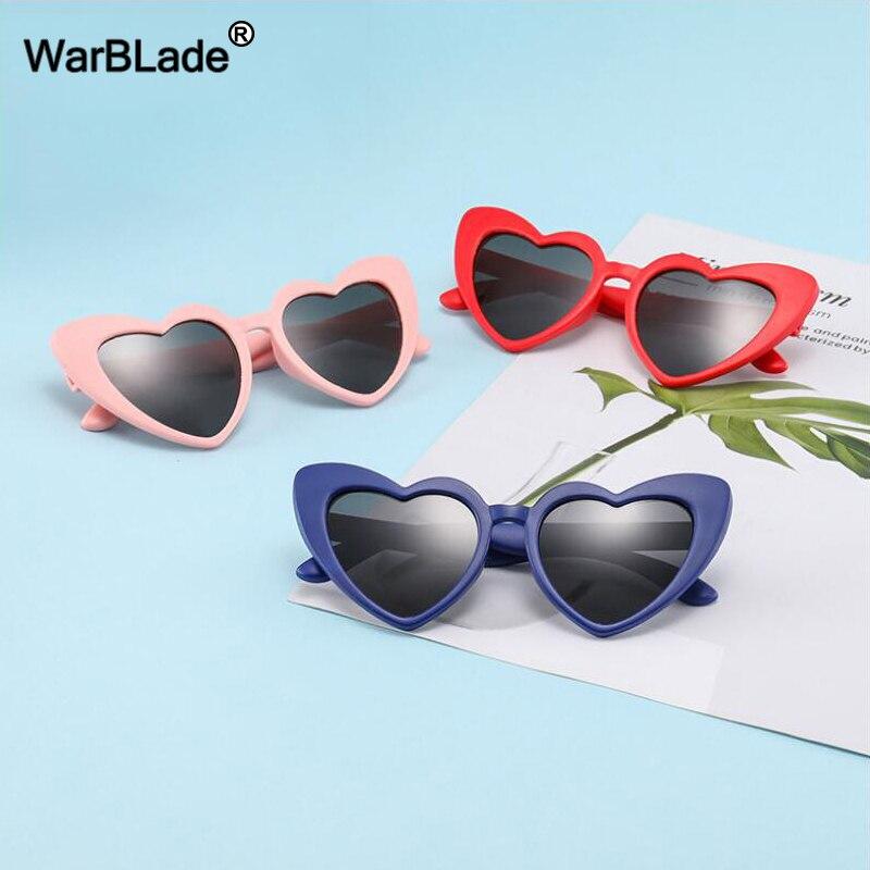 WarBLade Children Kids Polarized Sunglasses Fashion Heart Shaped Boys Girls Sun Glasses UV400 Baby Flexible Safety Frame Eyewear
