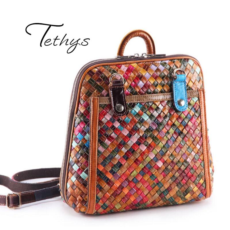 2017 Luxury font b Backpacks b font font b Women b font Bags Designer Genuine Leather