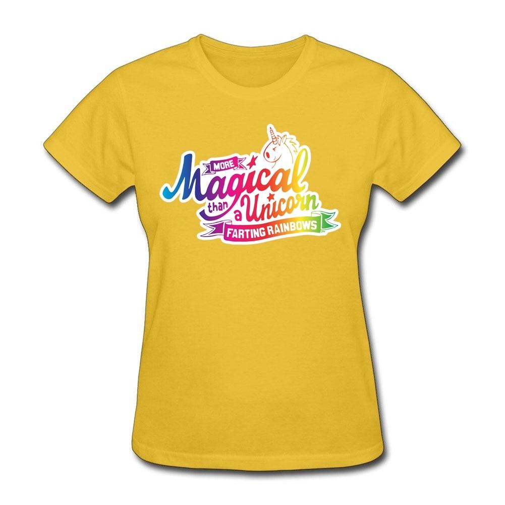 Unicorn Magic Logo Printing On Women Tee Shirts Cheap Xs Xl Farting