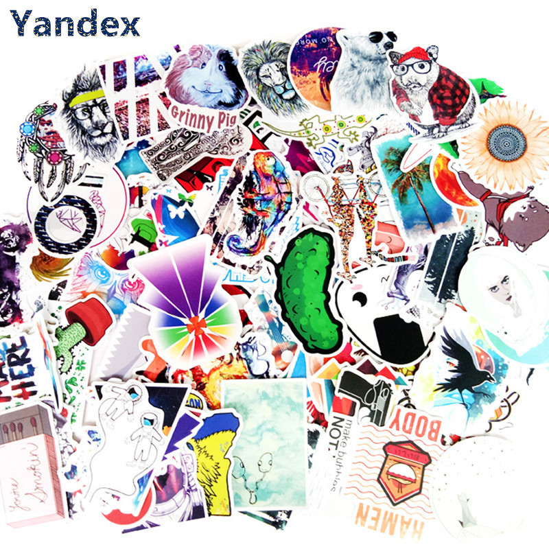 (Yandex) 100PCS anime stickers do not repeat European and American personality stickers,motorcycles,pull rod boxes, car stickers ...