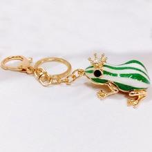 Cute Green Frog Keychain Purse Handbag  Charm Pendant Car Key Keyring Birthday Fashion Friend Gift
