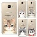 Nueva moda super lindo gato cubierta del estuche rígido para samsung galaxy a310 A510 A710 J110 J510 J710 A3 A5 A7 J1 J5 J7 2016
