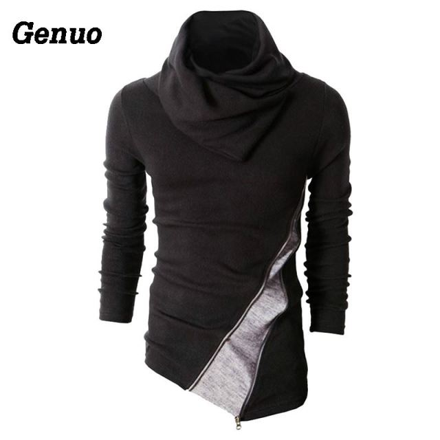 Genuo Winter Patchwork Turtleneck Sweater Men Casual Knitted Sweaters Long Sleeve Pullovers Men Christmas Sweater Tops Plus Size