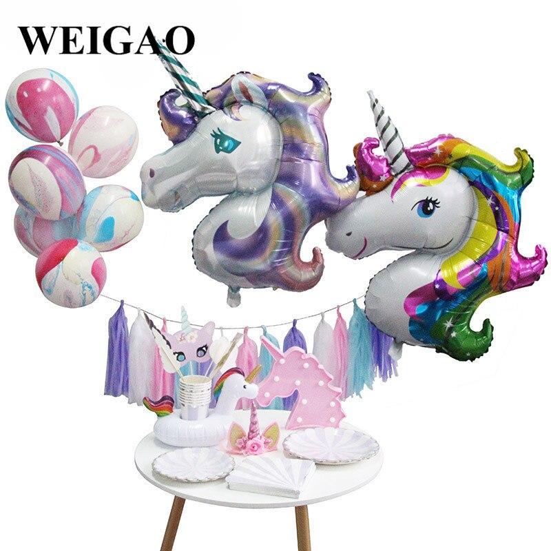 Weigao Unicorn Set New Year Gifts Photo Props Ballons