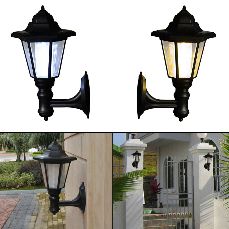 Solar Power LED Light Path Way Wall Landscape Mount Garden Fence Lamp Outdoor