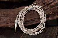 3 5mm Silver Plated High Quality DIY Weave Headphone Cable Earphone Audio Cable Repair Upgrade Wire