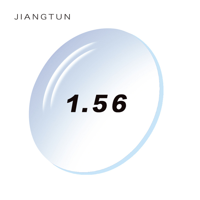 JIANGTUN 1.56 Super Hi-Index Ultra Thin Aspheric Spectacle Eyeglass Lenses For Eyes With Myopia 0.00-4.00 Degree