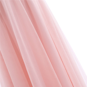 Image 5 - TiaoBug 2020 Girls Pleated Mesh Cutout Back Flower Girl Dress Floor Length Splice Shoulder Straps Sleeveless Wedding Party Dress