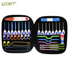 Crochet Hook Set 16pcs Mix 1.0-6.0mm Aluminum Needles With Bag Sweater Weave Knitting DIY Craft Sewing Tool