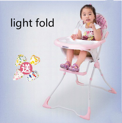 As crianças comem multifuncional bebê cadeira de bebê cadeira pequena sala de jantar leve cadeira dobrável portátil
