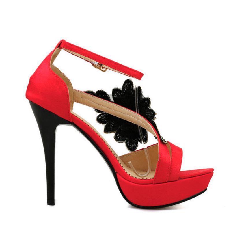 Haoshen Clásicos Y Talón Negro Sandalias Las Verano Chica Rojo Limita Sexy Zapatos Alto Plataforma Negro Mujeres Del Tacones De rojo ZZnxrdUqA
